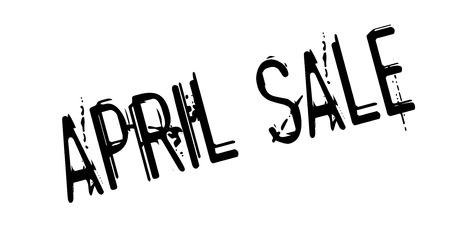 barter: April Sale rubber stamp Illustration