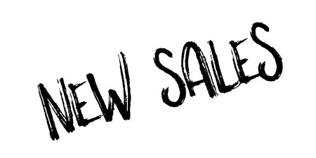 unloading: New Sales rubber stamp