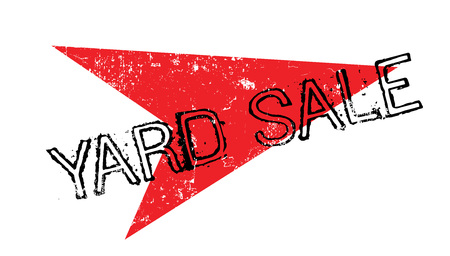 yard sale: Yard Sale rubber stamp Illustration