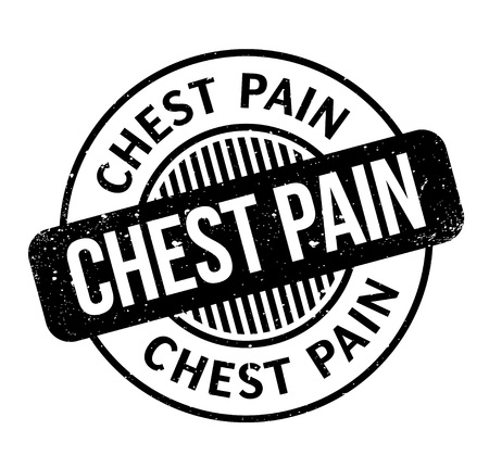 heart disease: Chest Pain rubber stamp