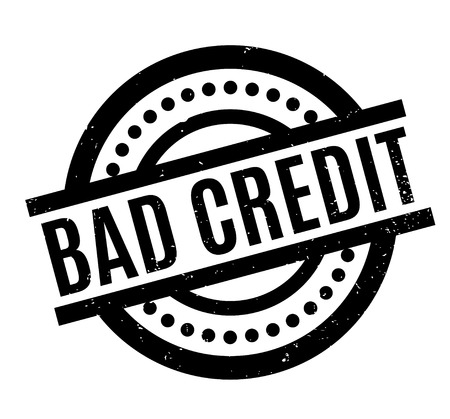 Sello de caucho de mal crédito