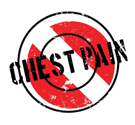 Chest Pain rubber stamp