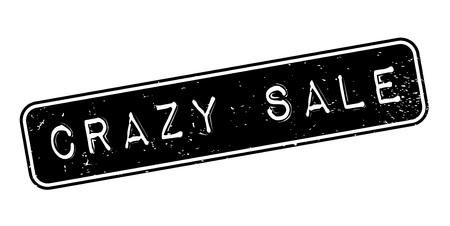 Crazy Sale rubber stamp Illustration