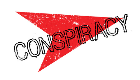 Conspiracy rubber stamp Illustration