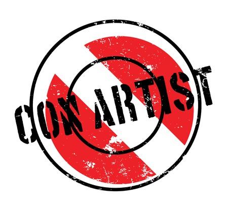 Con Artist rubber stamp Illustration