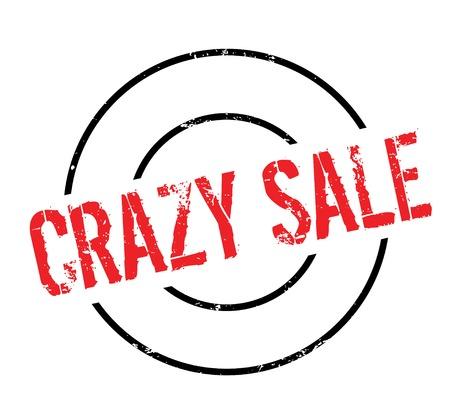 lunatic: Crazy Sale rubber stamp Illustration