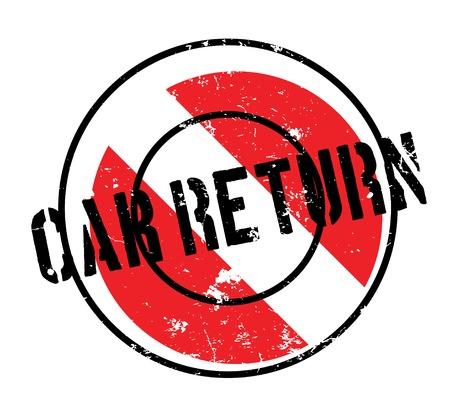 come back: Car Return rubber stamp