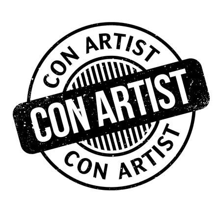 Con Artist rubber stamp Çizim