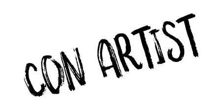 Con Artist rubber stamp Illustration