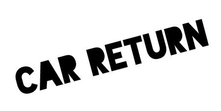 Car Return rubber stamp