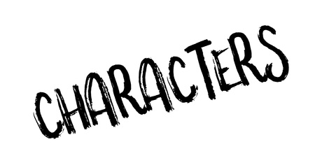 actress: Characters rubber stamp