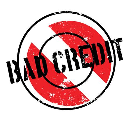 Bad Credit rubber stamp
