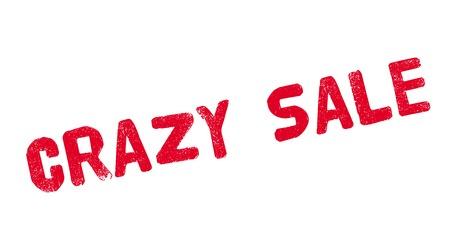 dumping: Crazy Sale rubber stamp Illustration