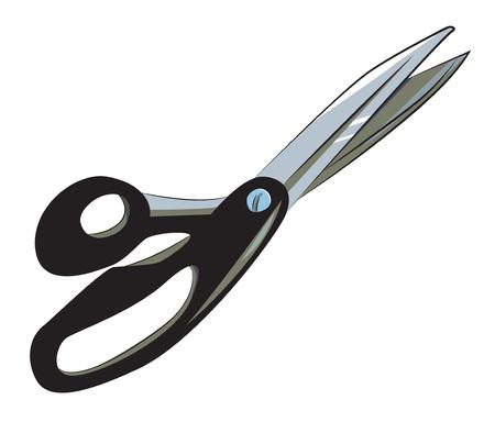 cutting: Cartoon image of pair of scissors