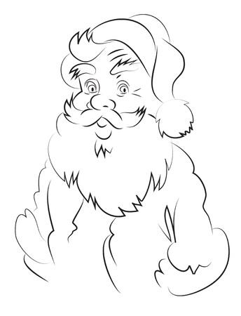 Cartoon image of amazed santa claus Illustration