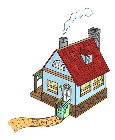 Cartoon image of house Illustration
