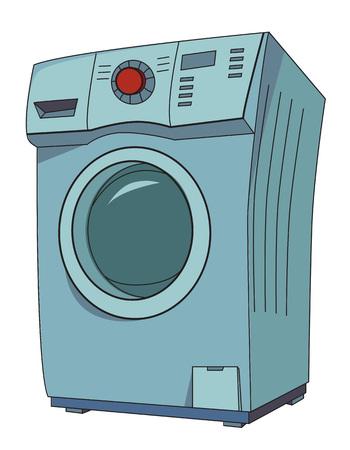 appliances: Cartoon image of washing machine