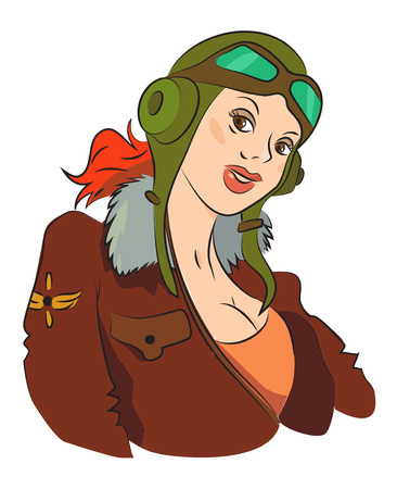 thought balloon: Cartoon image of air force woman