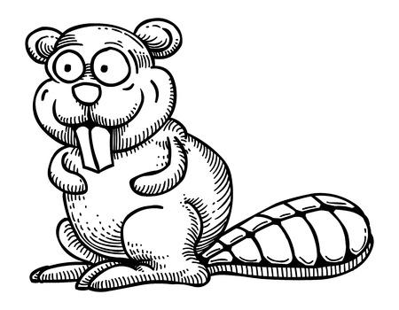 Cartoon image of beaver