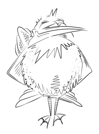 exciting: Cartoon image of bird