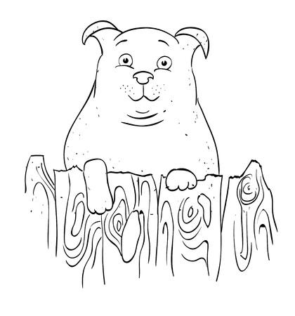 Cartoon image of dog Ilustração
