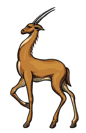 Cartoon image of antelope Illustration