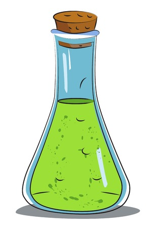Cartoon image of chemical reaction