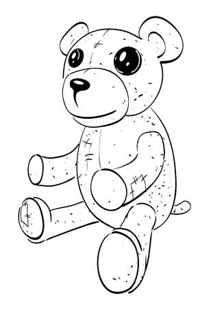 Cartoon image of teddy bear Illustration
