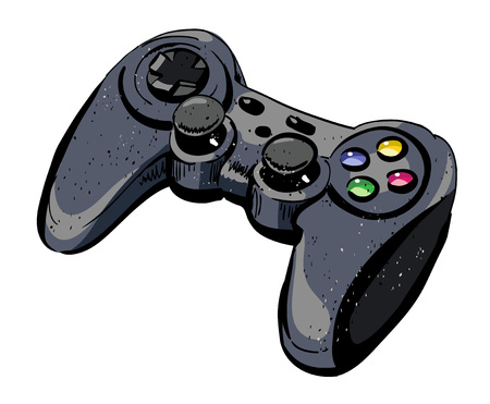 Cartoon image of joystick