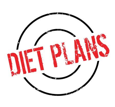 Diet Plans rubber stamp Illustration