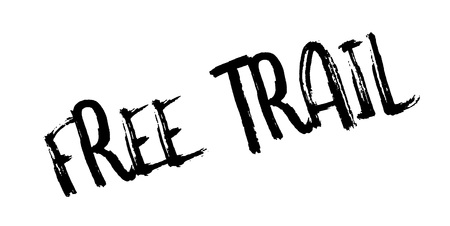 Free Trail rubber stamp Illustration