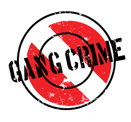 Gang Crime rubber stamp