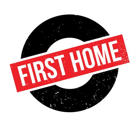 初のホーム ゴム印