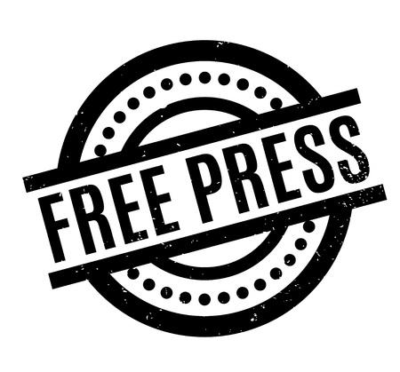 Sello de goma libre de la prensa Vectores