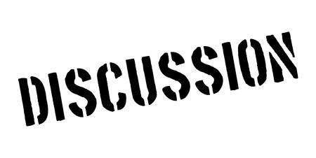 deliberation: Discussion rubber stamp Illustration