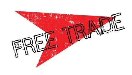 Free Trade rubber stamp