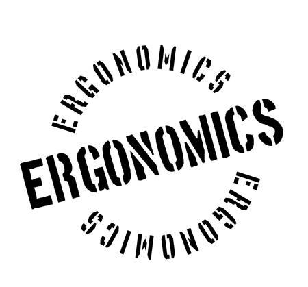 Ergonomics rubber stamp Illustration