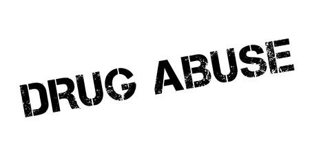 unlawful act: Drug Abuse rubber stamp Illustration