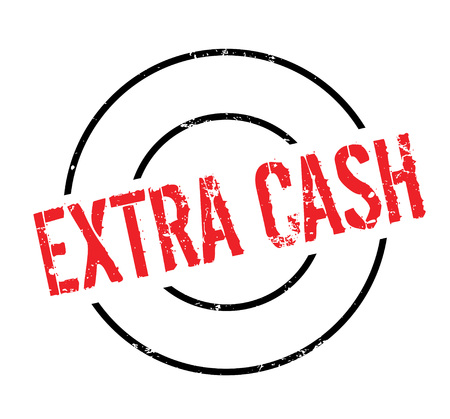 Extra Cash rubber stamp