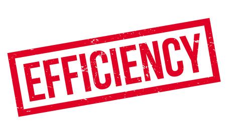 Sello de goma de la eficiencia