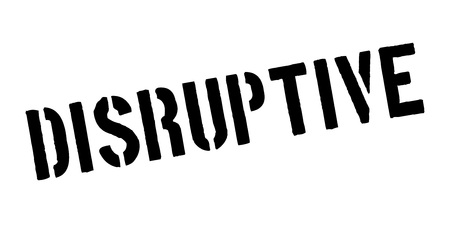 Disruptive rubber stamp Ilustração