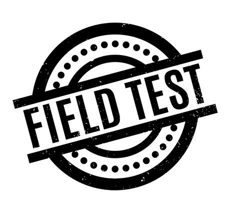 Field Test rubber stamp Illustration
