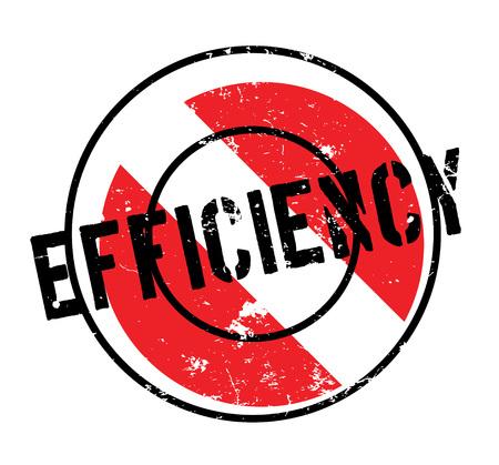 Efficiency rubber stamp