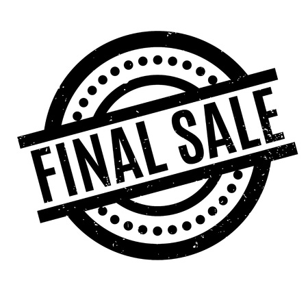 Final Sale rubber stamp