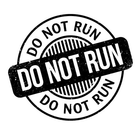 Do Not Run rubber stamp Stock fotó - 82774837