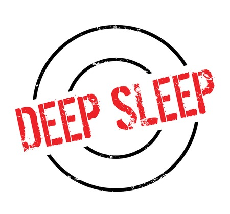 Deep Sleep rubber stamp. Grunge design with dust scratches. Effects can be easily removed for a clean, crisp look. Color is easily changed. Stock Photo
