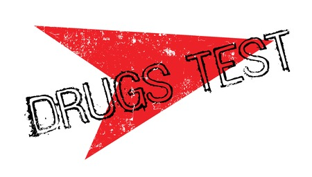 detection: Drugs Test rubber stamp