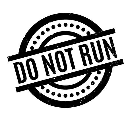 Do Not Run rubber stamp Stock fotó - 82774910