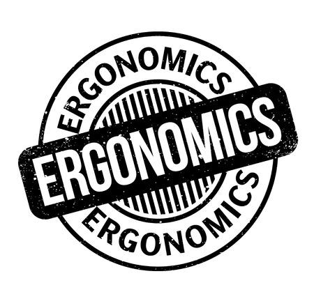 Ergonomics rubber stamp Stock Illustratie