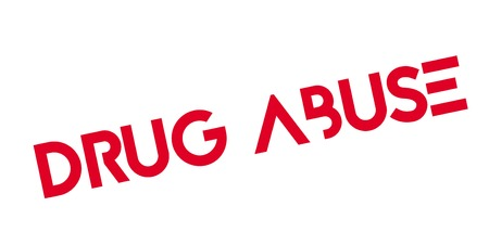 Drug Abuse rubber stamp Illustration